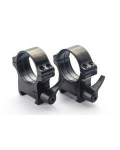 Rusan Steel Quick-Release Picatinny & Weaver rings - 40 mm